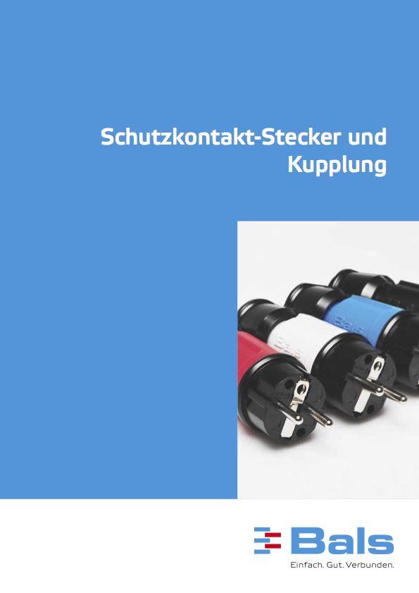 Schutzkontakt-Stecker und Kupplung
