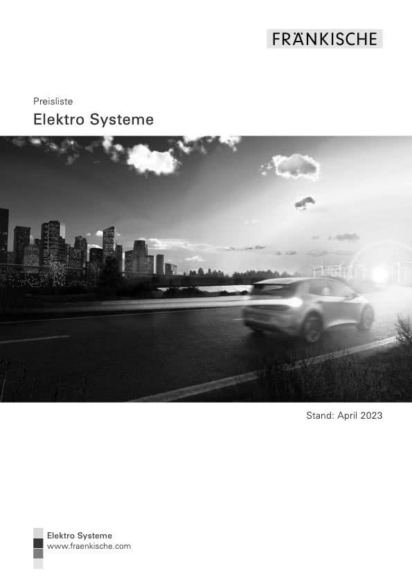 Elektro-Systeme Preisliste