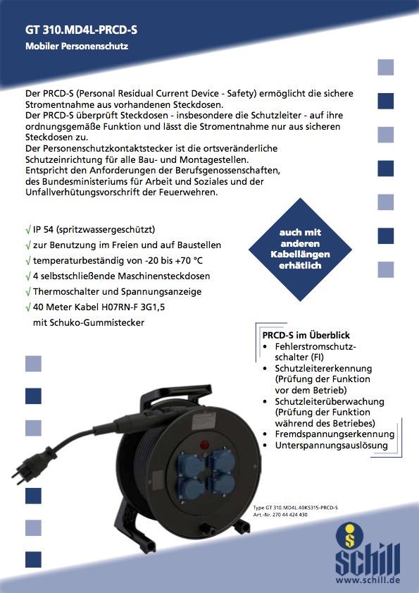 Schill Flyer Kabeltrommel Personenschutz