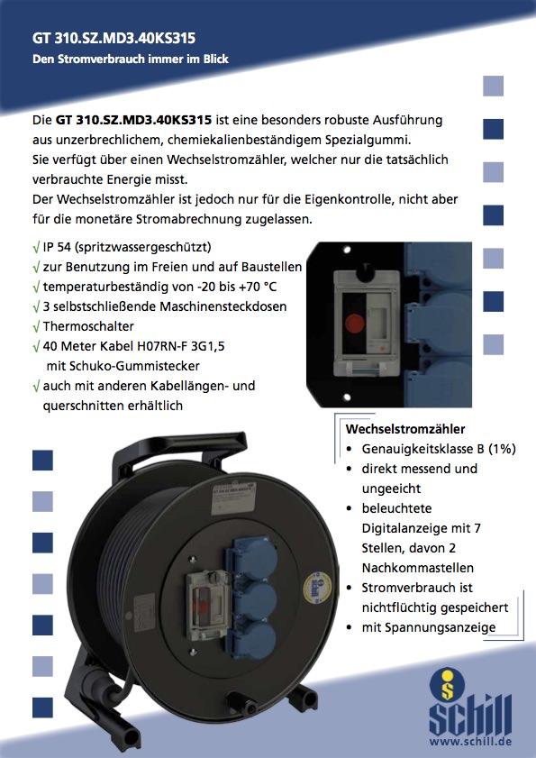 Schill Flyer Kabeltrommel Stromzähler